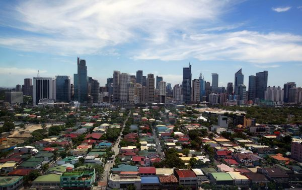 A general view of the skyline from the Makati City Hall in Manila May 11, 2010