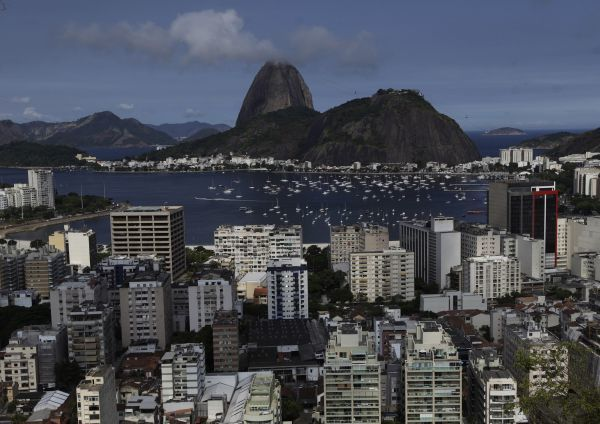 The Botafogo neighborhood is seen with the famous Sugar Loaf Mountain in the background in Rio de Janeiro February 24, 2011