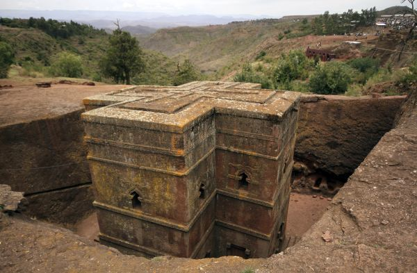 Bet Medhane Alem rock church is seen in Lalibela April 23, 2011. According to legend, angels helped King Lalibela build this church and others like it in the 11th and 12th century after he received an order from God to create a new Jerusalem in Ethiopia