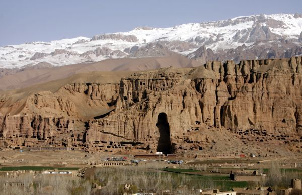A general view of niche that once held a giant Buddha, in Bamiyan province April 21, 2009