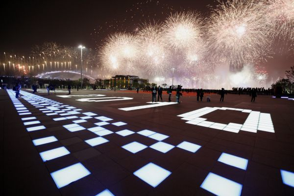 Fireworks explode above the Shanghai World Expo site during its opening ceremony in Shanghai April 30, 2010