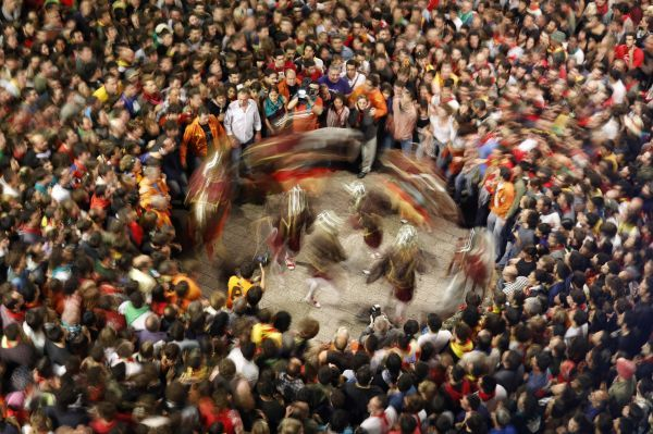 "Revellers take part in the ""La Patum"" festival in Berga city, north of Barcelona, June 6, 2010"