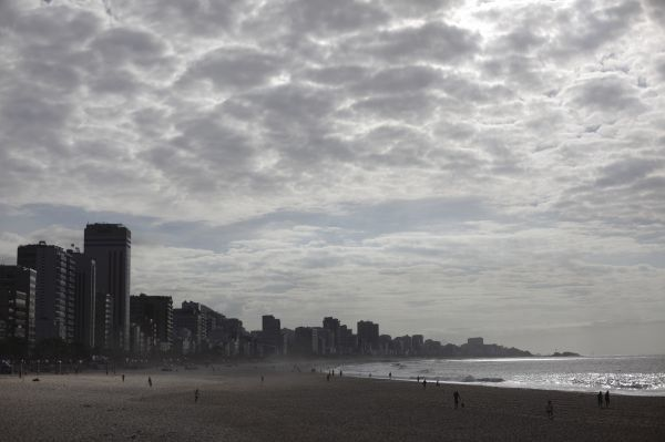 Buildings are seen in front of the Leblon Beach in Rio de Janeiro February 25, 2011